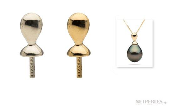 Appret en Or, bélière pour pendentif de perle de culture