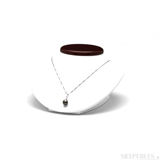 Pendentif perle de culture de Tahiti et beliere or et damant