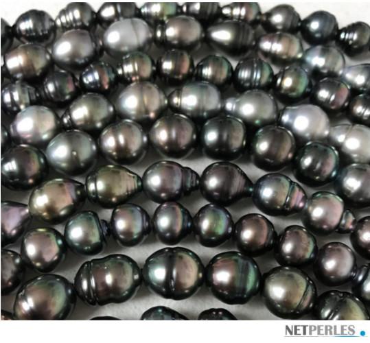 Rangs de perles de Tahiti baroques