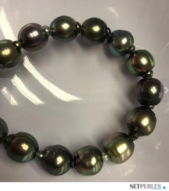 Bracelet de perles de Tahiti baroques