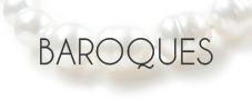 Colliers de perles Baroques d'Australie - Perles blanches - Perles dorées - NETPERLES