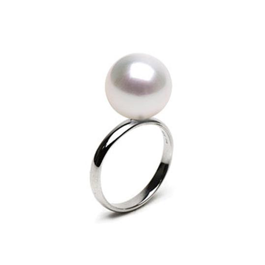 bague perle d 39 australie bague or jaune ou gris 14 carats et perle blanche perle de culture. Black Bedroom Furniture Sets. Home Design Ideas