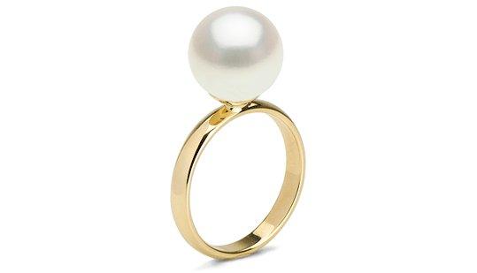 Bague Classique avec perle d'Eau Douce blanche Doucehadama