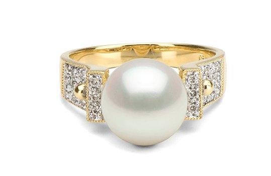 Bague Orbite avec perle de culture Doucehadama