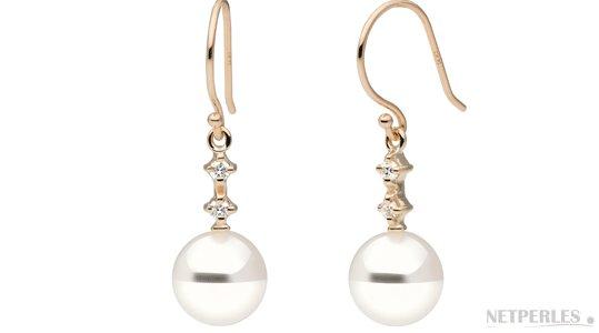 Boucles d'oreilles de perles d'eau douce DOUCEHADAMA Blanches