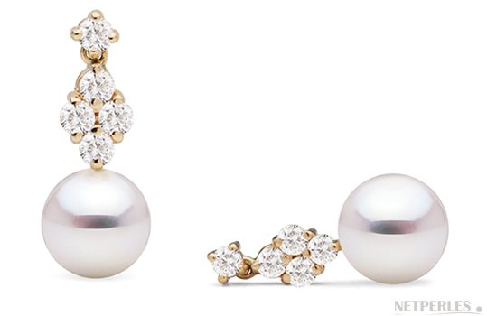 boucle oreille perle diamant