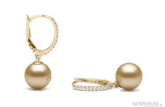BO Eternelle avec perles Australie dorées