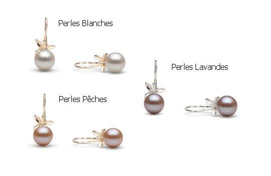 Boucles d'oreilles Floraison avec perles Doucehadama