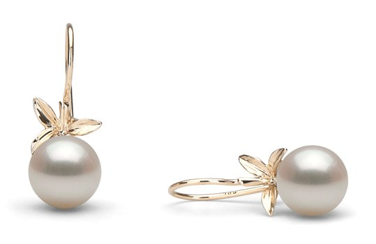 Boucles d'oreille de perles de culture doucehadama blanches