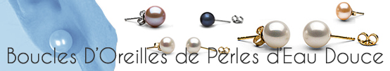 Boucles d'oreilles de perles de culture d'eau douce collection netperles