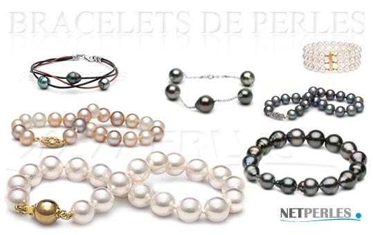 bracelets de perles - perles de culture - perles d'eau douce - perles de tahiti - perles du japon - perles de chine - bijoux de perles