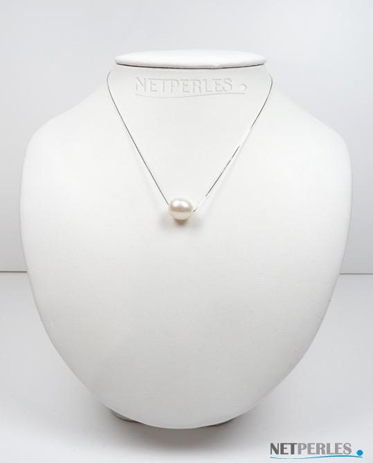 Pendnetif perle eau douce ovale