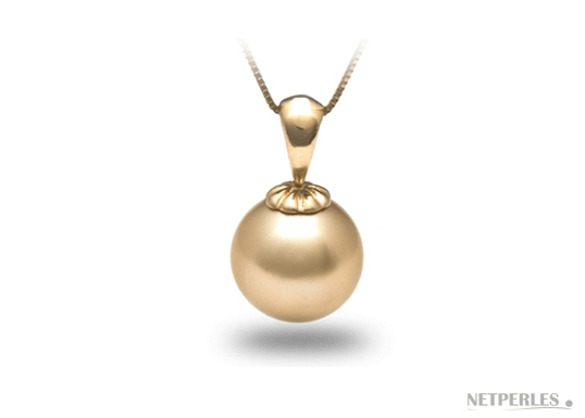 pendentif perle de culture d'australie dorée