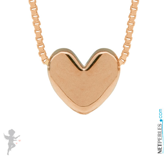 Pendentif coeur Or Rose 14 carats