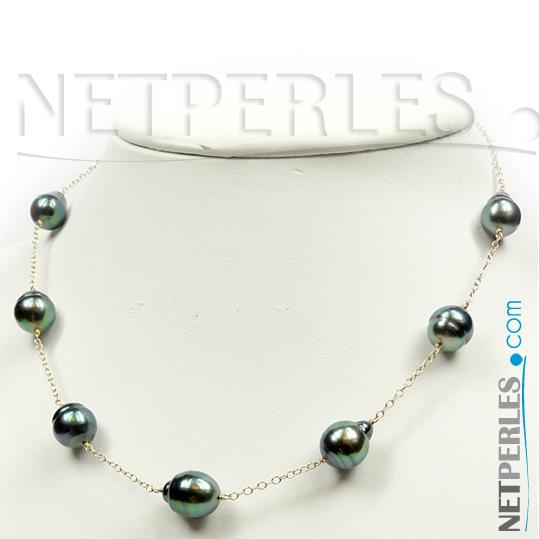 Collier de perles de culture de Tahiti