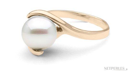 Bague Demain en Or Jaune avec perle Akoya 8-8,5 mm AAA