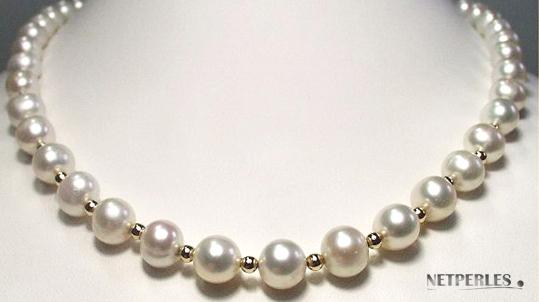 collier de perles d'eau douce AAA