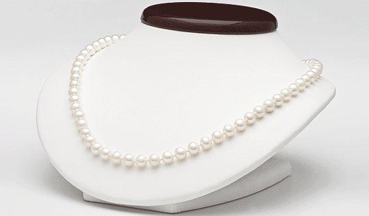 Collier de perles de culture d'eau douce, longueur 45 cm