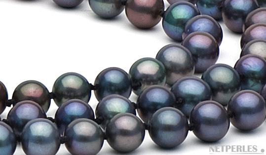 gros plan de perles de culture d'eau douce blanches qualité AAA