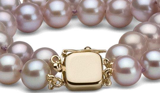 Fermoir double rang de perles en or jaune