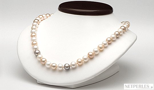 Collier 45 cm de perles DOUCEHADAMA 7,5-8 mm