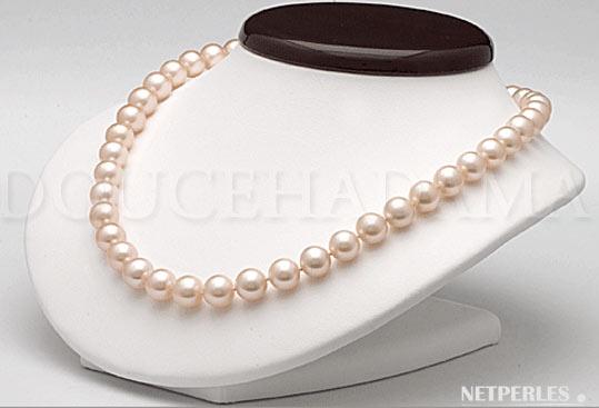 Collier de luxe, haut de gamme, une piece d'exception, collier de perles doucehadama pêche