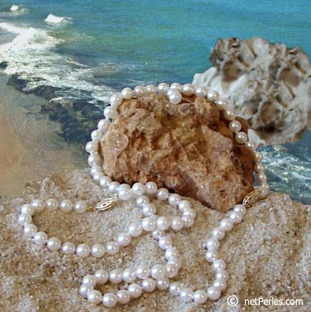 Collier de perles Akoya