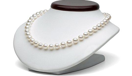 Collier de perles de culture d'Akoya 9-9,5 mm très rare!