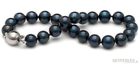 Bracelet de perles de culture d'Akoya noires