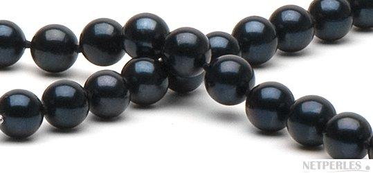 Perles de culture d'Akoya noires