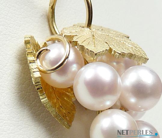 bijoux Or jaune 18 carats et perles de culture