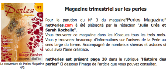 Netperles et perles magazine