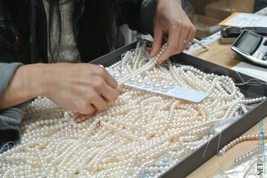 Concordance des tons parmi des perles de provenances différentes