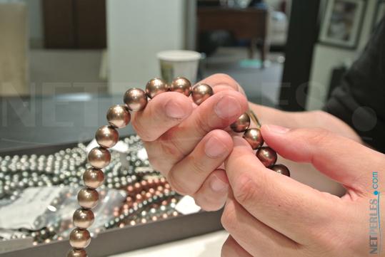 Rang de Perles de Tahiti couleur Chocolat