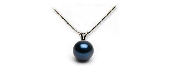 Pendentif avec perle d'Akoya noire