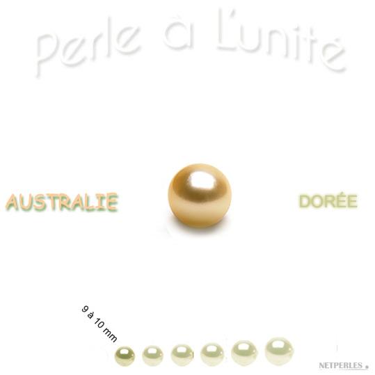 Perle de culture d'australie dorée qualité AAA ou AA+