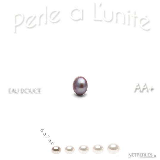 Perle de culture d'Eau Douce lavande qualité AA+