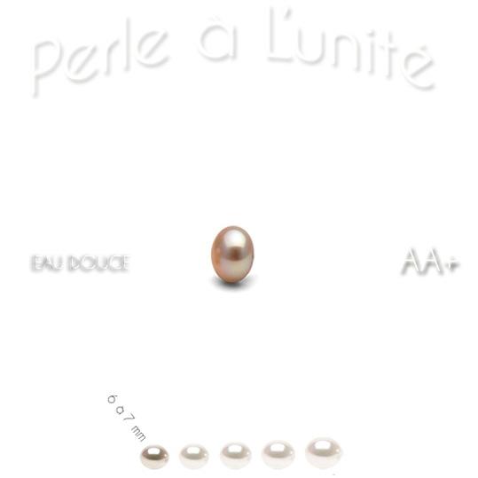 Perle de culture d'eau douce couleur naturelle peche qualité AA+