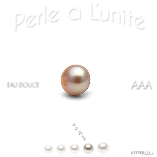 Perle de culture d'eau douce peche de 9 à 10 mm qualité AAA