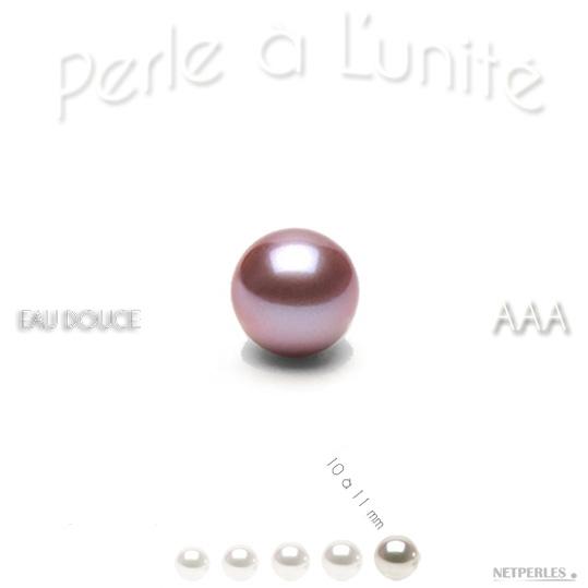 perle de culture d'eau douce lavande 10 à 11 mm qualité AAA