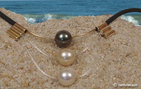 Collier trois perles