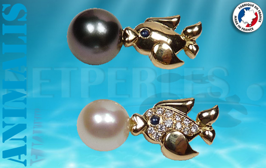 Collection ANIMALIS NETPERLES les poissons en Or 18 carats