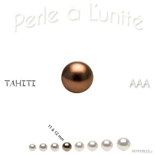 Perle de culture de Tahiti couleur Chocolat