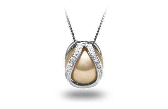 Pendentif Purete avec perle d'Australie Dorée
