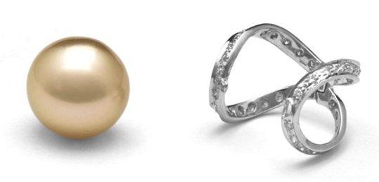 Pendentif Purete et perle d'australie dorée
