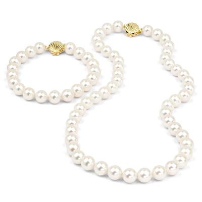 Parure en perles de culture Akoya