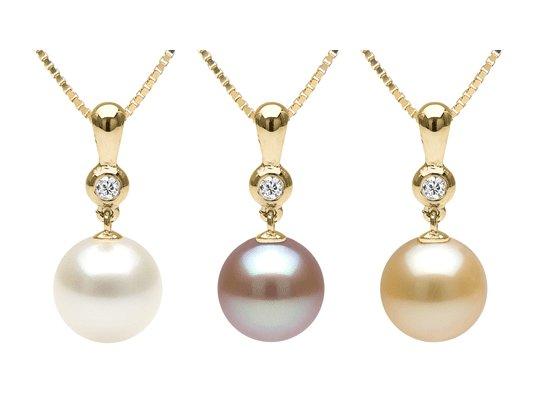 Pendentif en Or 14 carats avec perle de culture d'Eau douce