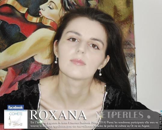 Roxana loreate du concours sur facebook netperles