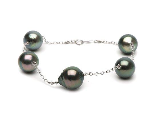 Bracelet des perles baroques de Tahiti