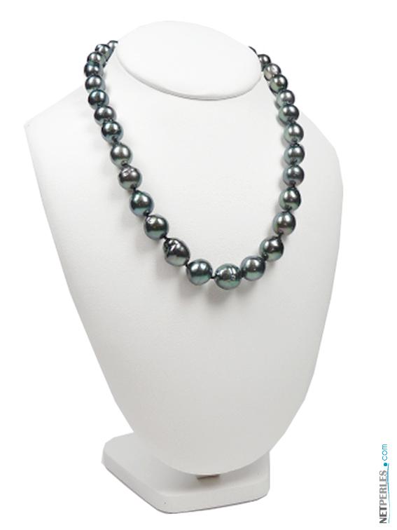 Collier de perles noires de tahiti